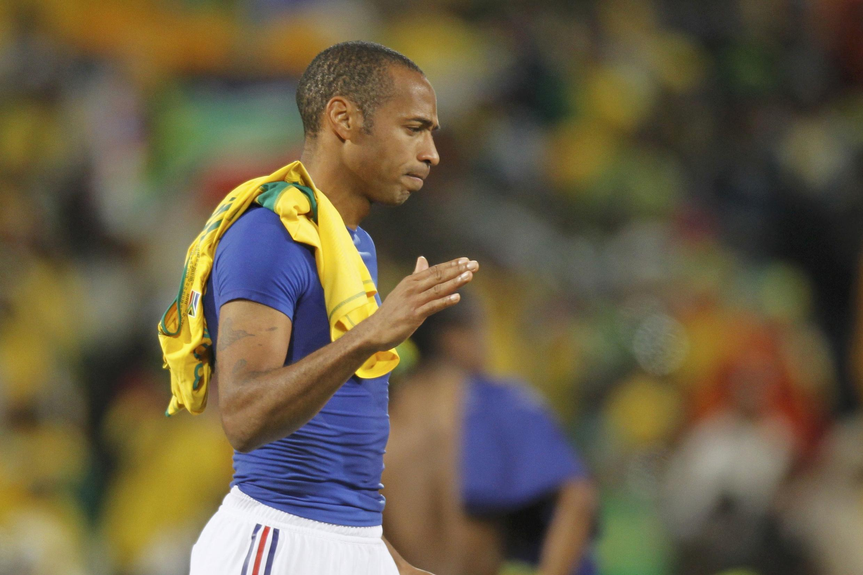 Thierry Henry après la défaite face à l'Afrique du Sud. Son dernier match en équipe de France.