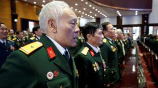 Cựu chiến binh Việt Nam từng chiến đấu với Khmer Đỏ kỷ niệm 40 năm chiến thắng chế độ diệt chủng ở Cam Bốt ngày 7 tháng Giêng. Ảnh chụp ngày 04/01/2019 tại Hà Nội.