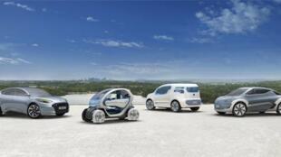 Protótipos de carros elétricos franceses que devem chegar ao mercado ainda este ano.