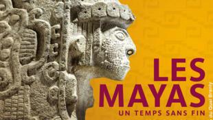 Affiche de l'exposition «Mayas, révélation d'un temps sans fin» au Musée du Quai Branly.