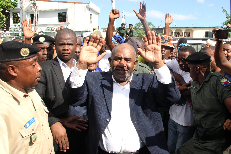 Azali Assoumani lors de son élection à la présidence des Comores le 15 mai 2016.
