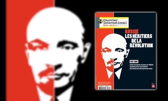 Couverture du hors-série du Courrier international «Russie. Les héritiers de la Révolution» (septembre-octobre-novembre 2017).