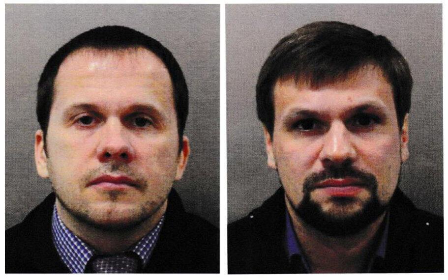Alexander Petrov (T) và Ruslan Boshirov (P) thật ra là một bác sĩ quân y và một đại tá quân báo Nga -GRU.