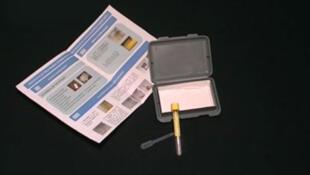 Teste de urina para detectar câncer do colo do útero.