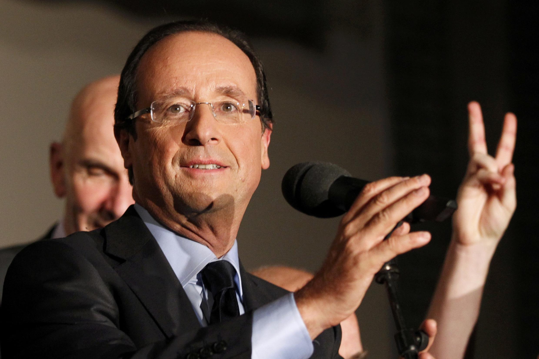 François Hollande é visto como um candidato muito moderado.