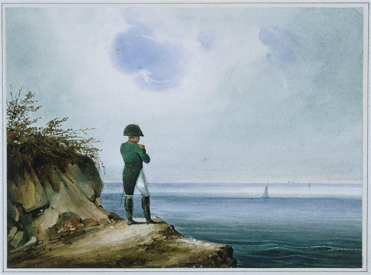 Napoleon on Saint Helena, a painting from the 19th century