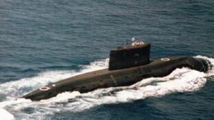 Une photographie d'un sous-marin iranien de conception russe prise par l'armée américaine en 2005.