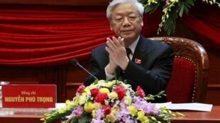 Tổng bí thư Nguyễn Phú Trọng tại Đại hội Đảng Cộng sản Việt Nam lần thứ 12.