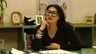 La diseñadora Emmanuelle Khan en 1990.