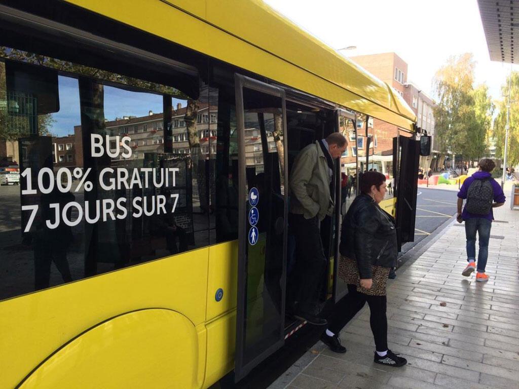 « Les bus de la ville de Dunkerque sont gratuits, tous les jours et pour tout le monde, depuis le 1er septembre. »