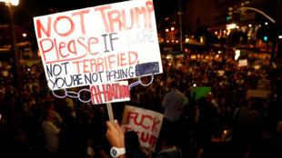 圖為美國各地仍有示威抗議特朗普當選