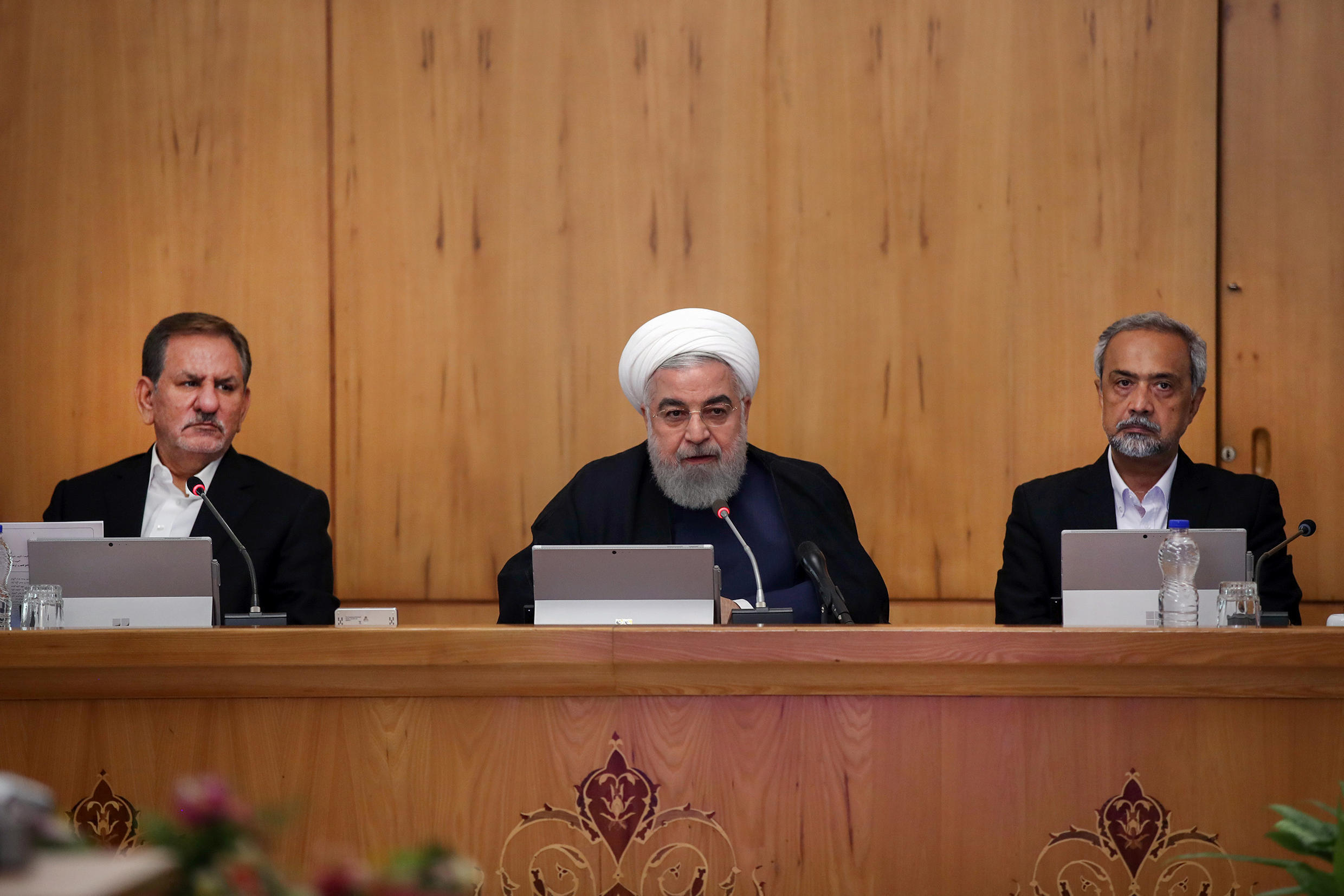 Iranian President Hassan Rouhani speaks during the cabinet meeting in Tehran, Iran, September 18, 2019.