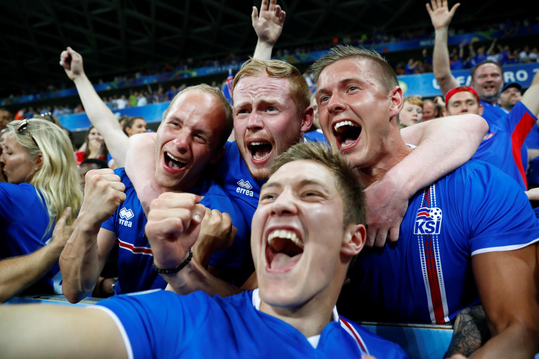 Vendas de camisas da seleção de futebol da Islândia registraram um aumento de 1.800%.