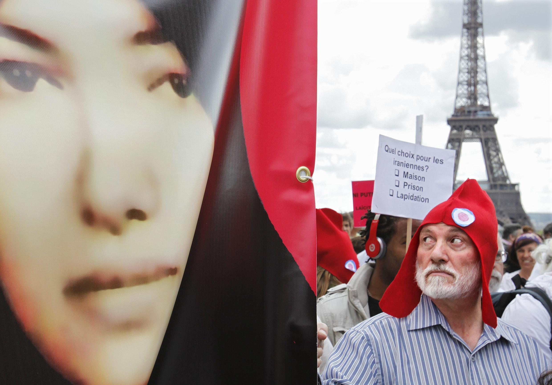 На парижской акции в поддержку Сакине.