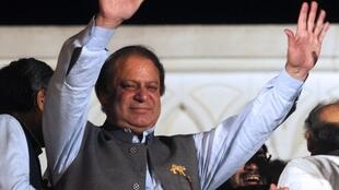 Nawaz Sharif après la victoire de son parti aux élections législatives pakistanaises, le 11 mai 2013.
