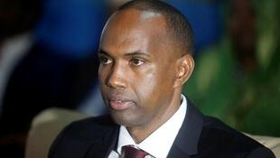 Somalia's newly appointed Prime Minister Hassan Ali Khaire attends the Parliament seating where he was confirmed.