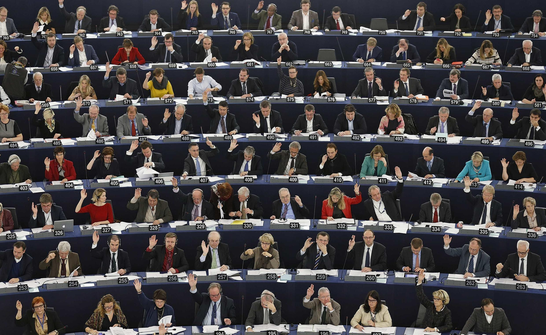 """O Parlamento europeu aprovou uma resolução que """"apoia o princípio do reconhecimento do Estado Palestino""""."""
