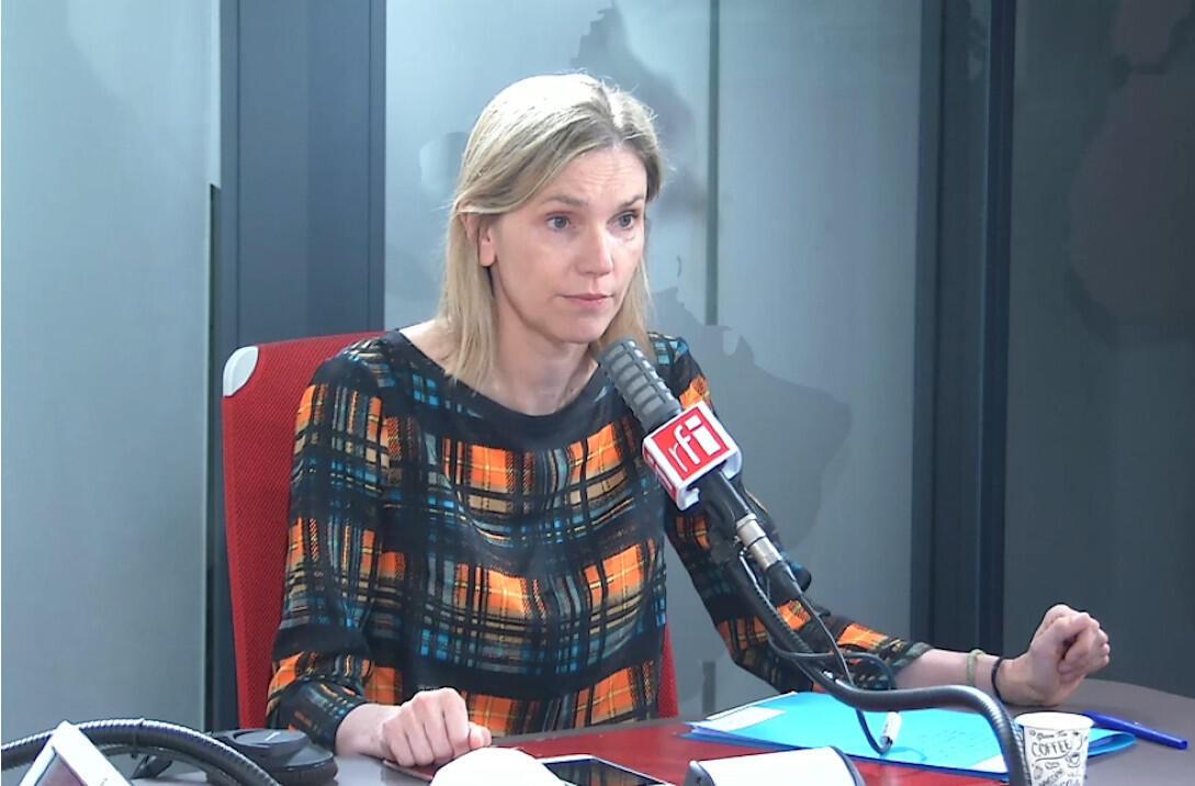 Agnès Pannier-Runacher,ministre déléguée auprès du ministre de l'Economie, des Finances et de la Relance, chargée de l'Industrie dans les studios de RFI, le 20 juillet 2020.