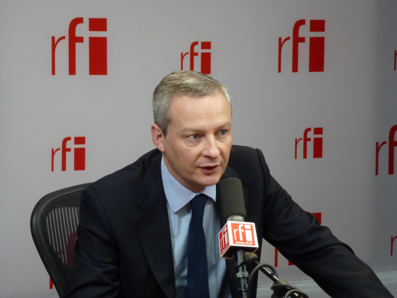 Bruno Le Maire au micro de RFI.