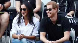 Le prince Harry et son amie Meghan Markle, le 25 septembre à Toronto (Canada).