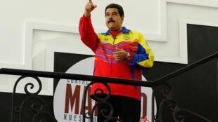 O presidente venezuelano Nicólas Maduro durante seu programa de TV semanal