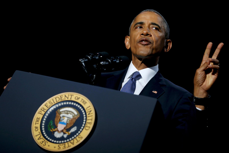 Barack Obama da su último discurso en Chicago, el pasado 10 de enero de 2017.