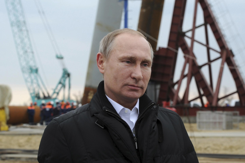 Le président russe Vladimir Poutine, lors du deuxième anniversaire de l'annexion de la Crimée à la Russie, le 18 mars 2016.