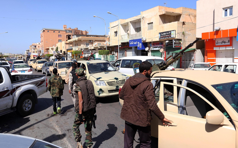 Wapiganaji wa kundi la wanamgambo katika mji wa Sabratha, mji ulio kilomita 70 magharibi mwa Tripoli.