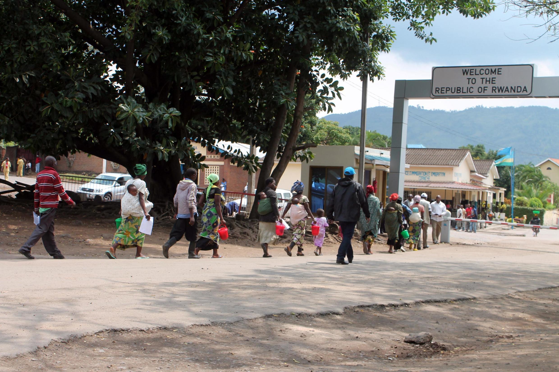 Poste frontière entre la RDC et Rwanda dans le district de Rubavu (image d'illustration).