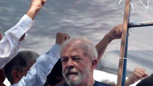 El expresidente Lula horas antes de entregarse a las autoridades en abril de 2018.