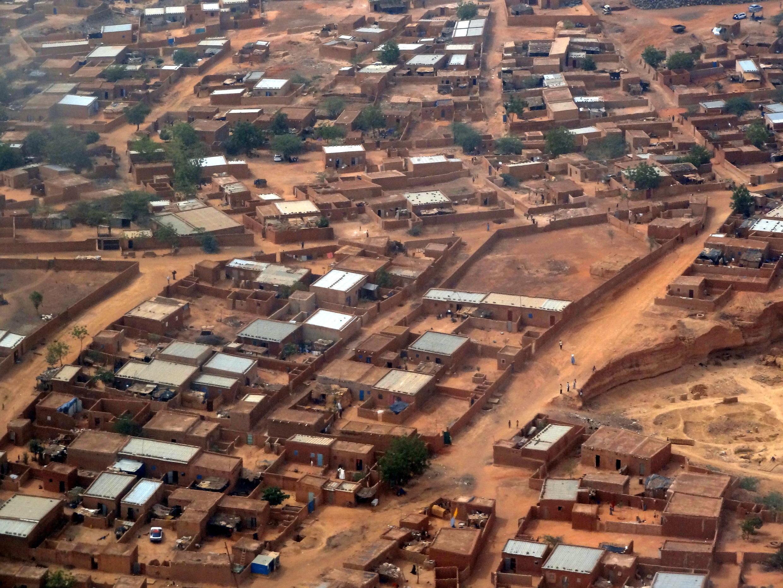 Vue aérienne de Niamey au Niger.