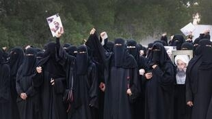 تظاهرات زنان شیعه در قطیف، بعد از اعدام شیخ نمر - ژانویه 2016