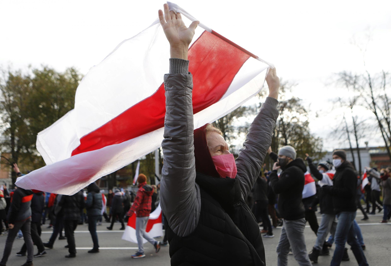 Митинг оппозиции в Минске, 18 октября 2020.
