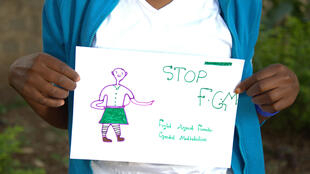 Equality Now - stop FGM sign