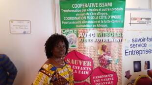Coulibaly Alimata, promotrice de la coopérative Issami à Man, Bouaké et Korhogo en Côte d'Ivoire.