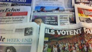 Capas diários franceses 24/2/2012