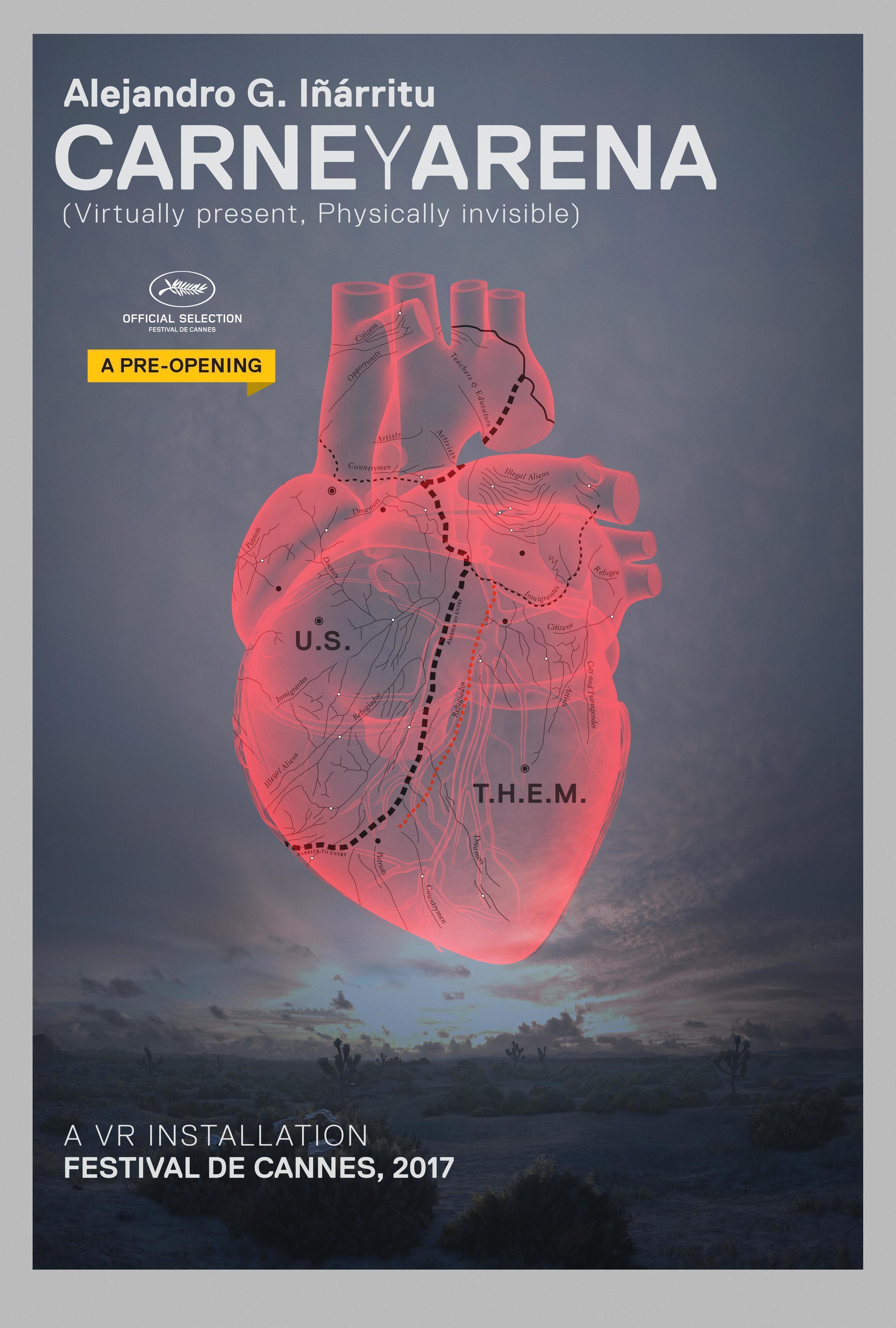 « Carne y arena » (« Virtually present, physically invisible »), une installation cinématographique en réalité virtuelle du réalisateur oscarisé Alejandro Gonzalez Inarritu, en sélection officielle du Festival de Cannes.