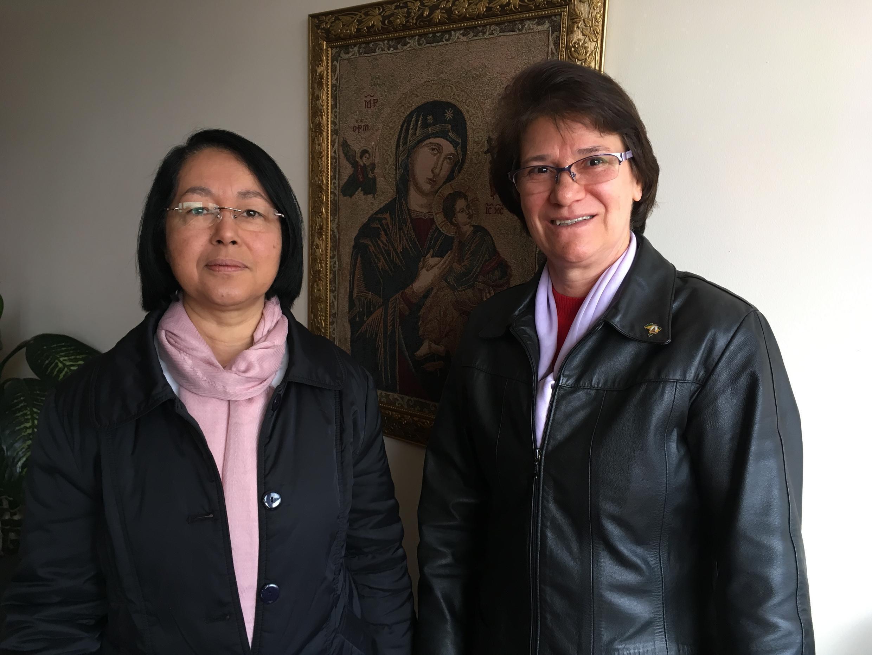 As irmãs Missionárias Eunivia e Teresinha.