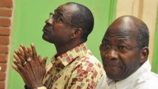 Djibril Basole tare da  Gilbert Diendere yayin wani zama a kotu kan zargin kifar da gwamnatin rikon kwarya a shekara 2015, a kasar Burkina Faso