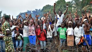 Masu zanga-zanga a Bujumbura.