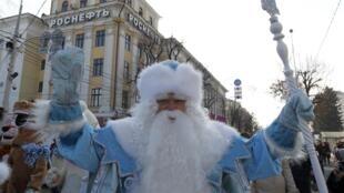 Дед Мороз в Краснодаре 17 декабря 2016