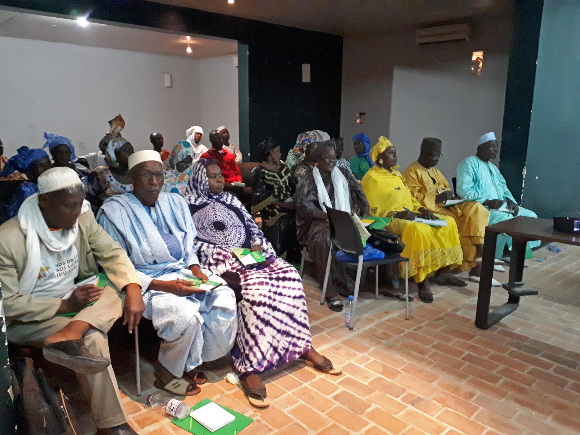 Réunion de la société civile à Tombouctou, au Mali.