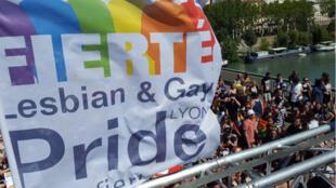 La Gay Pride à Lyon, en 2017.
