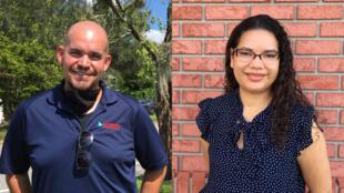 Alex Bario, directeur politique d'Allianza for Progress, et Emilia Bonia, élue au conseil d'un district dans la banlieue d'Orlando, d'origine portoricaine.