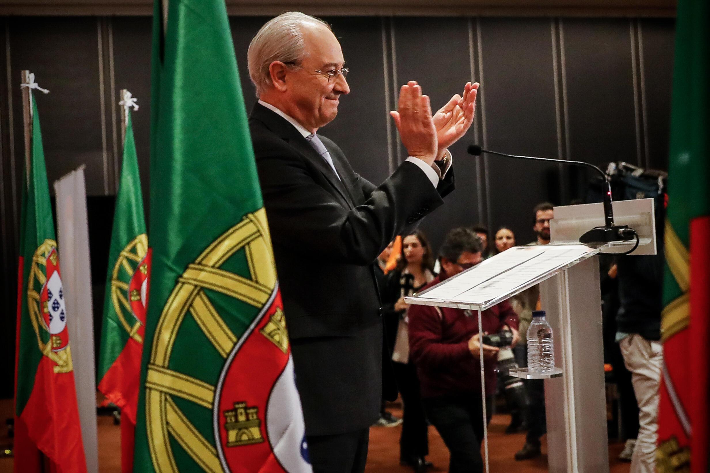O candidato à liderança do Partido Social Democrata (PSD) e actual presidente do partido, Rui Rio. Porto, 12 de Janeiro de 2020.