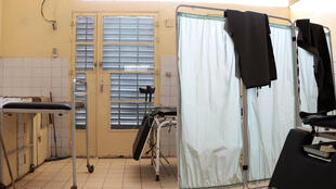 Salle d'accouchement de l'hôpital de Mao, province de Kanem, Tchad, janvier 2020.