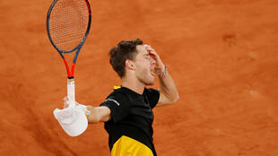 Diego Schwartzman tras derrotar en cuartos de final al austriaco Dominic Thiem (7-6, 5-7, 6-7, 7-6, 6-2) en Roland Garros. 6 de octubre de 2020.