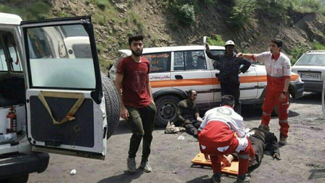 کمک رسانی به کارگران آسیب دیده معدن در ایران