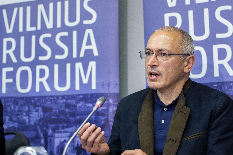 Михаил Ходорковский на форуме российской оппозиции в Вильнюсе