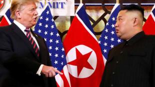Shugaban Amurka Donald Trump da takwaransa na Koriya ta Arewa, Kim Jong Un